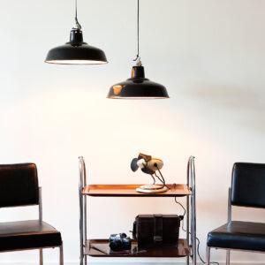 Zwarte industriele hanglampen
