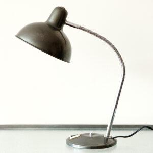 Groen metallic vintage bureaulamp